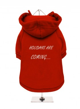 Holidays Are Coming Coca Cola Christmas  Fleece Lined Hoodie (Available in 2 colours)