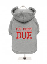 Funny Pug Christmas  Fleece Lined Hoodie (Available in 4 colours)