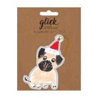 Pug Christmas Gift Tags Set Of 6