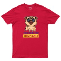 Child's Funny Pug Unisex T-Shirt (Available in 7 colours)