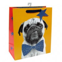 Cute Pug Medium Gift Bag For All Occasions