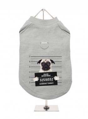 Pug Mug Shot Harness Unisex T Shirt (Available in 7 colours)