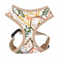 PUPPIA BEIGE BOTANICAL HARNESS SIZE LARGE