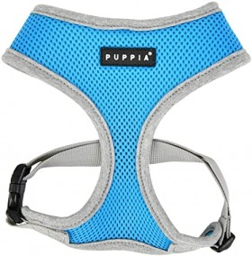 PUPPIA BLUE SOFT MESH II HARNESS SIZE LARGE