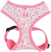 PUPPIA PINK WILDFLOWER HARNESS SIZE LARGE