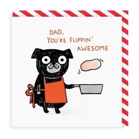 Cute Dad Pug Blank Card By Gemma Correll