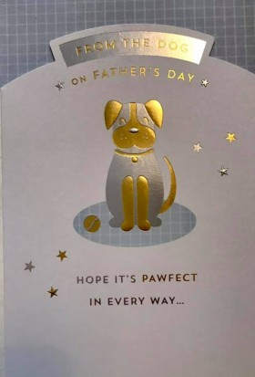 Cute  From The Dog Pug Fathers Day Card