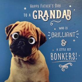 Cute Granddad Pug Fathers Day Card