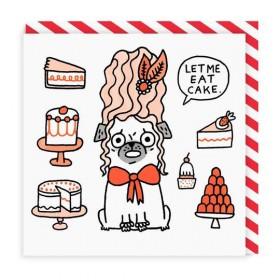 Pug Blank Card By Gemma Correll