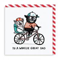 Funny Pug Fathers Day /Birthday Dad Card By Gemma Correll