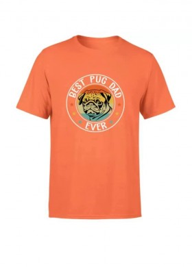 Mens Best Pug Dad T Shirt (Available in 5 colours)