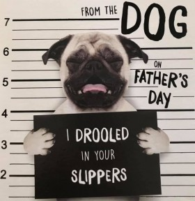 Cute & Funny  From The Dog Pug Fathers Day Card
