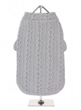 URBAN PUP UNISEX  GREY CABLE SWEATER