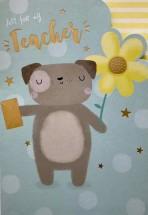 Just For My Teacher Pug Card