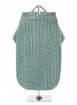 URBAN PUP UNISEX  TEAL CABLE SWEATER