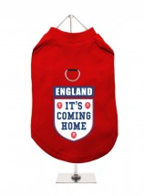 It's Coming Home Red England Unisex Harness T Shirt