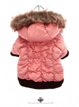 Salmon Pink Quilted Ski Coat