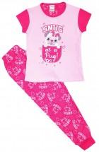 Cute Girls Snug As A Pug Long Pyjama Set