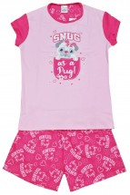 Cute Girls Snug As A Pug Short Pyjama Set